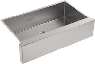 STRIVE® SELF-TRIMMING® 35-1/2 X 21-1/4 X 9-5/16 INCHES UNDER-MOUNT LARGE SINGLE-BOWL KITCHEN SINK WITH TALL APRON, Stainless Steel, medium