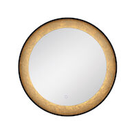 30-INCH ROUND EDGELIT MIRROR WITH 3000K LED LIGHT AND TOUCH SENSOR SWITCH, 33830, Silver, medium
