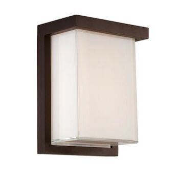 LEDGE 8-INCH 3000K LED WALL SCONCE LIGHT, WS-W1408, Bronze, large