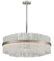 CHIME 12-LIGHT PENDANT, Silver Leaf, medium