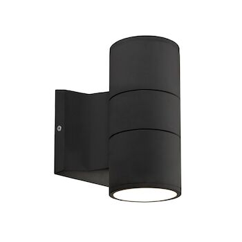 LUND 7-INCH LED OUTDOOR WALL SCONCE LIGHT, Black, large