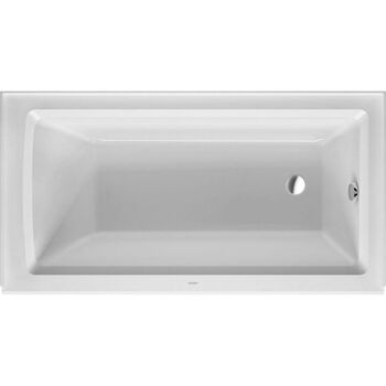 ARCHITEC ACRYLIC BATHTUB WITH 20.5 INCH PANEL HEIGHT, White, large