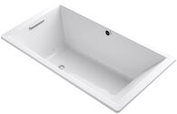 UNDERSCORE® RECTANGLE 66 X 36 INCHES DROP IN BUBBLEMASSAGE™ AIR BATHTUB WITH BASK® HEATED SURFACE AND REVERSIBLE DRAIN, White, medium