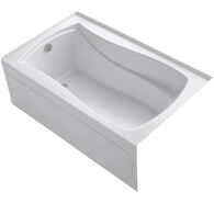 MARIPOSA® 60 X 36 INCHES ALCOVE BATHTUB WITH INTEGRAL APRON AND INTEGRAL FLANGE AND LEFT-HAND DRAIN, White, medium