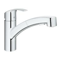EUROSMART PULL OUT KITCHEN FAUCET, StarLight Chrome, medium