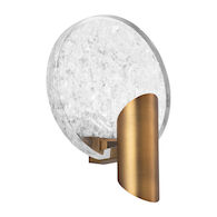 ORACLE LED WALL SCONCE, Aged Brass, medium