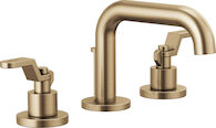LITZE WIDESPREAD LAVATORY FAUCET 7-INCH LESS HANDLES, Brilliance Luxe Gold, medium