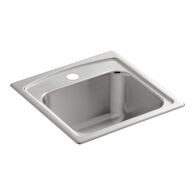 TOCCATA™ 15 X 15 X 7-11/16 INCHES TOP-MOUNT BAR SINK WITH SINGLE FAUCET HOLE, Stainless Steel, medium
