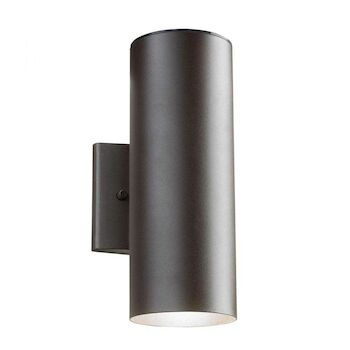 12-INCH 3000K UP AND DOWN LED OUTDOOR WALL LIGHT, Textured Architectural Bronze, large