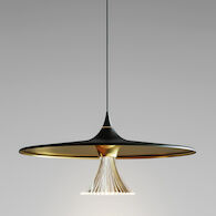 IPNO 3000K LED PENDANT LIGHT, 18460, Black & Gold, medium