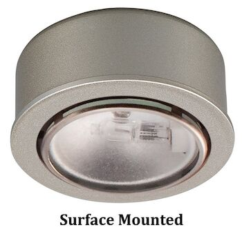 ROUND XENON LOW VOLTAGE BUTTON LIGHTS, Brushed Nickel, large
