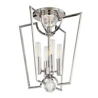 WATERLOO 4-LIGHT SEMI FLUSH LIGHT, 3004, Polished Nickel, medium