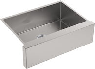 STRIVE® SELF-TRIMMING® 29-1/2 X 21-1/4 X 9-5/16 INCHES UNDER-MOUNT MEDIUM SINGLE-BOWL KITCHEN SINK WITH TALL APRON, Stainless Steel, medium