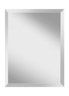 INFINITY RECTANGLE MIRROR 22x28-INCH, Silver, medium