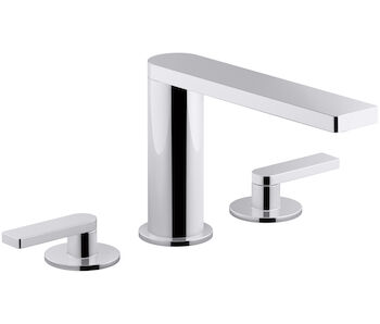COMPOSED® DECK MOUNT BATH FAUCET WITH LEVER HANDLES, Polished Chrome, large