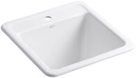 PARK FALLS™ 21 X 22 X 13-3/4 INCHES TOP-/UNDER-MOUNT UTILITY SINK, White, medium