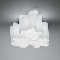 LOGICO TRIPLE NESTED MICRO CEILING LAMP, Milky White, medium