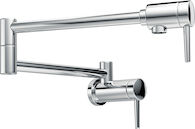 CONTEMPORARY WALL MOUNT POT FILLER, Chrome, medium