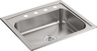 TOCCATA™ 25 X 22 X 6 INCHES TOP-MOUNT SINGLE-BOWL KITCHEN SINK, Stainless Steel, medium