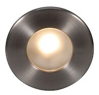 LEDme® FULL ROUND STEP AND WALL LIGHT, Brushed Nickel, medium