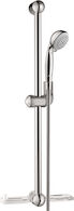 "24"" UNICA E WALLBAR SET, Chrome, medium"