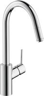 TALIS S 1-SPRAY HIGHARC KITCHEN FAUCET, PULL-DOWN, Chrome, medium
