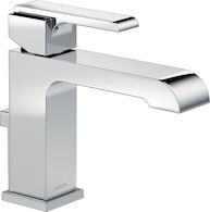 ARA SINGLE HANDLE LAVATORY FAUCET, Chrome, medium