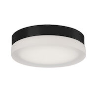 BEDFORD SINGLE LED ROUND FLUSH MOUNT, Black, medium