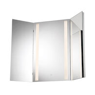 44X32-INCH RECTANGULAR TRI-FOLD BACK-LIT MIRROR WITH 3000K LED LIGHT AND TOUCH SENSOR SWITCH, 34000, Silver, medium