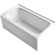 BANCROFT® 60 X 32 INCHES ALCOVE BATHTUB WITH INTEGRAL APRON AND INTEGRAL FLANGE, RIGHT-HAND DRAIN, White, medium