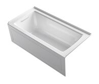ARCHER® 60 X 30 INCHES ALCOVE BATHTUB WITH INTEGRAL APRON AND INTEGRAL FLANGE, LEFT-HAND DRAIN, White, medium