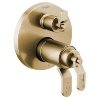 LITZE TEMPASSURE® THERMOSTATIC VALVE WITH 3-FUNCTION DIVERTER TRIM - LESS HANDLES, Luxe Gold, medium