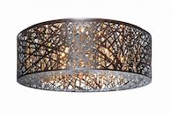 INCA 9-LIGHT FLUSH MOUNT, Bronze, medium
