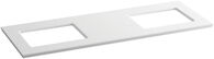 SOLID/EXPRESSIONS® 61-INCH VANITY TOP, White Expressions, medium