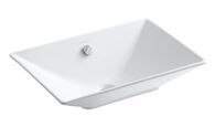 RÊVE® VESSEL BATHROOM SINK, White, medium