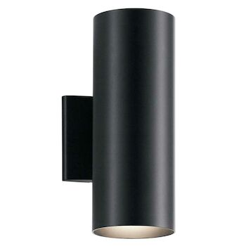 2-LIGHT INDOOR/OUTDOOR WALL LIGHT, Black, large