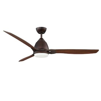 ERIS 52-INCH LED CEILING FAN WITH WALNUT BLADES, Oil Brushed Bronze, large