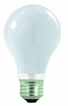 HALOGEN LIGHT BULB 43W 120V 2900K MEDIUM BASE E26 A19, WHITE, , large