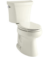 HIGHLINE® COMFORT HEIGHT® TWO-PIECE ELONGATED DUAL-FLUSH TOILET WITH CLASS FIVE® FLUSHING TECHNOLOGY, Biscuit, medium