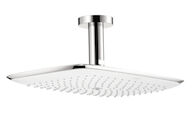 PURAVIDA 400 AIR 1-JET SHOWER HEAD WITH CEILING MOUNT, White, Chrome, medium