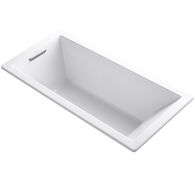 UNDERSCORE® RECTANGLE 66 X 32 INCHES DROP IN BATHTUB, White, medium
