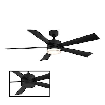 WYND 52-INCH 3000K LED CEILING FAN, Matte Black, large