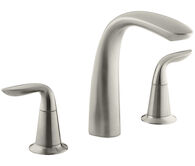 REFINIA® BATH FAUCET TRIM FOR HIGH-FLOW VALVE WITH LEVER HANDLES, Vibrant Brushed Nickel, medium