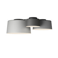 TUBE TRIPLE 2700K LED FLUSH MOUNT LIGHT, 6115, Grey L2, Grey M1, Grey D1, medium
