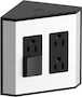 IN-DRAWER ELECTRICAL OUTLETS FOR KOHLER® TAILORED VANITIES, Black, small