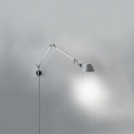 TOLOMEO MICRO WALL LAMP WITH S BRACKET, Aluminum, medium