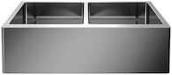 QUATRUS R15 32-INCH UNDERMOUNT DOUBLE BOWL APRON SINK, Stainless Steel, medium