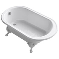 IRON WORKS® HISTORIC 66 X 36 INCHES FREESTANDING OVAL BATHTUB WITH REVERSIBLE DRAIN, WHITE EXTERIOR AND SAFEGUARD® FINISH, White, medium
