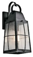 TOLERAND 1-LIGHT 18-INCH OUTDOOR WALL LIGHT, Textured Black, medium