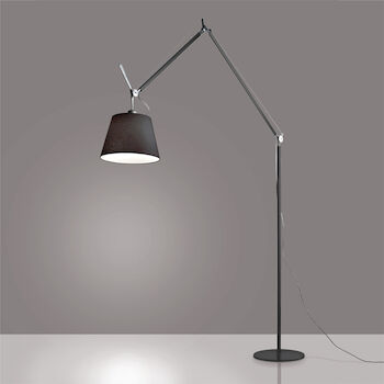 TOLOMEO MEGA FLOOR LAMP WITH 14-INCH DIFFUSER, Black, large